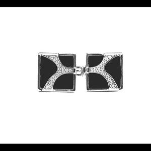 Other - Cuff links silver and cz